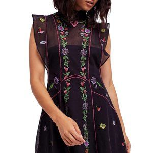 Free People summer embroidered dress - sz 4
